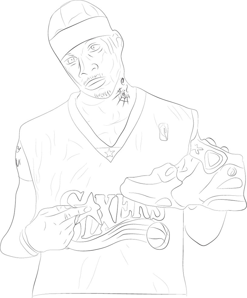 814x982 Allen Iverson Drawing By Jaminlemon