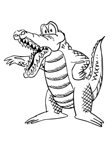 360x480 Cartoon Alligator Coloring Page Free Printable Coloring Pages