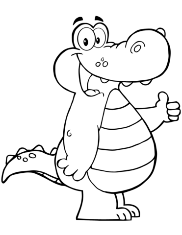 371x480 Cartoon Alligator Coloring Page Free Printable Coloring Pages