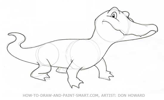 550x337 How to Draw Alligators