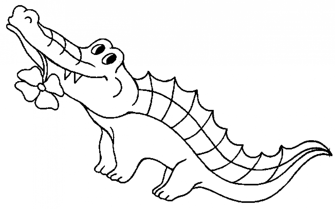 1280x799 Crocodile Drawing For Kids Crocodile Coloring
