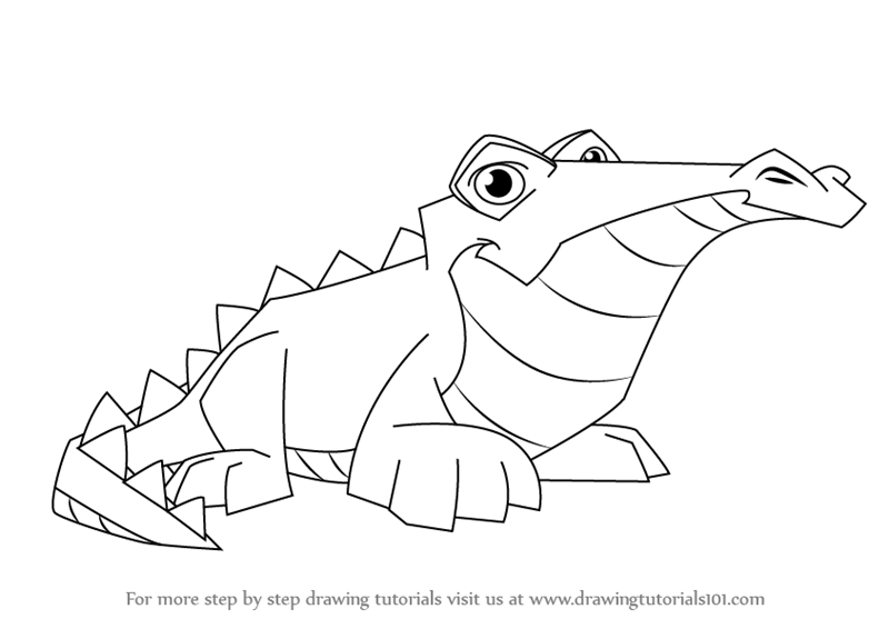 800x566 Learn How to Draw Crocodile from Animal Jam (Animal Jam) Step by