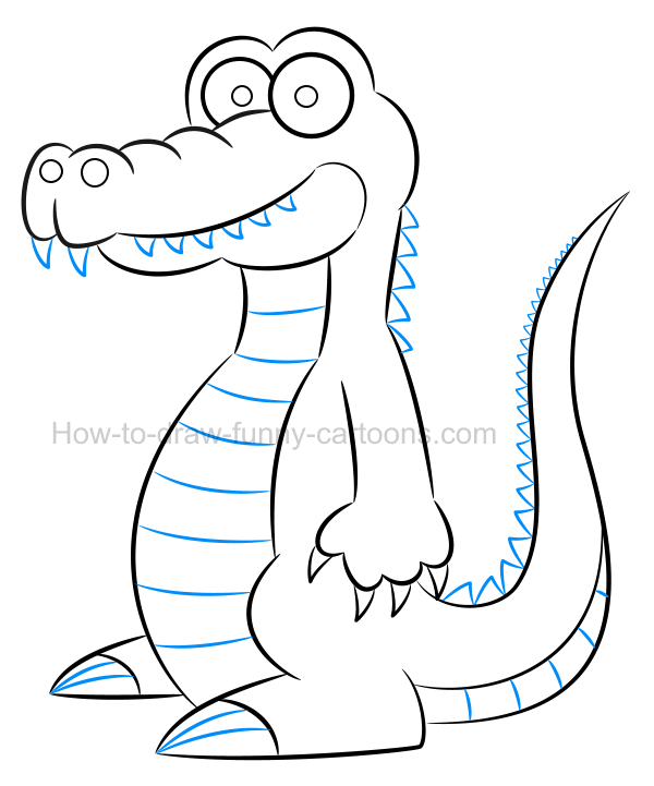 600x721 to draw an alligator clip art