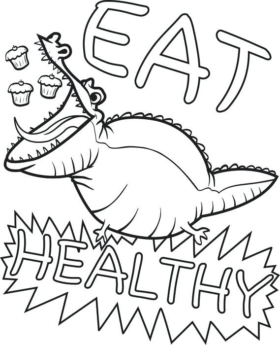 569x700 Alligator Coloring Book Plus Free Printable Eat Healthy Alligator