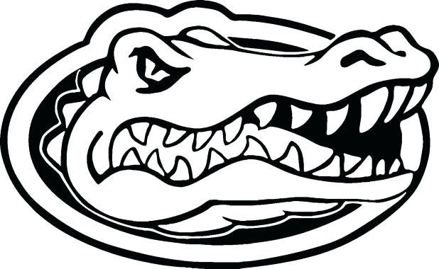 618x380 Florida Gators Coloring Pages Coloring Page Florida Gator Head