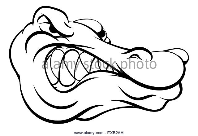 640x439 Illustration Angry Alligator Crocodile Head Stock Photos