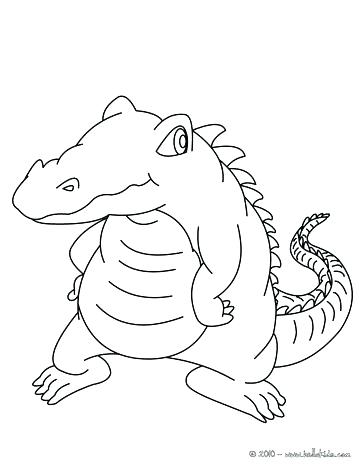 364x470 Alligator Coloring Book Also Coloring Pages Animals Mother