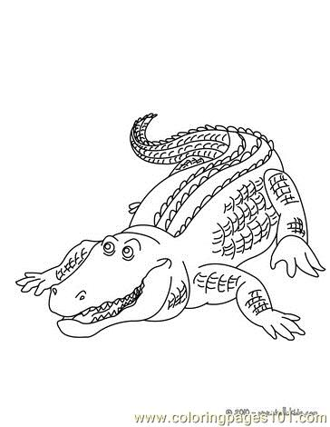 364x470 Alligator Hunting Coloring Page
