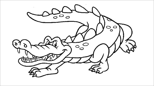 Alligator Line Drawing