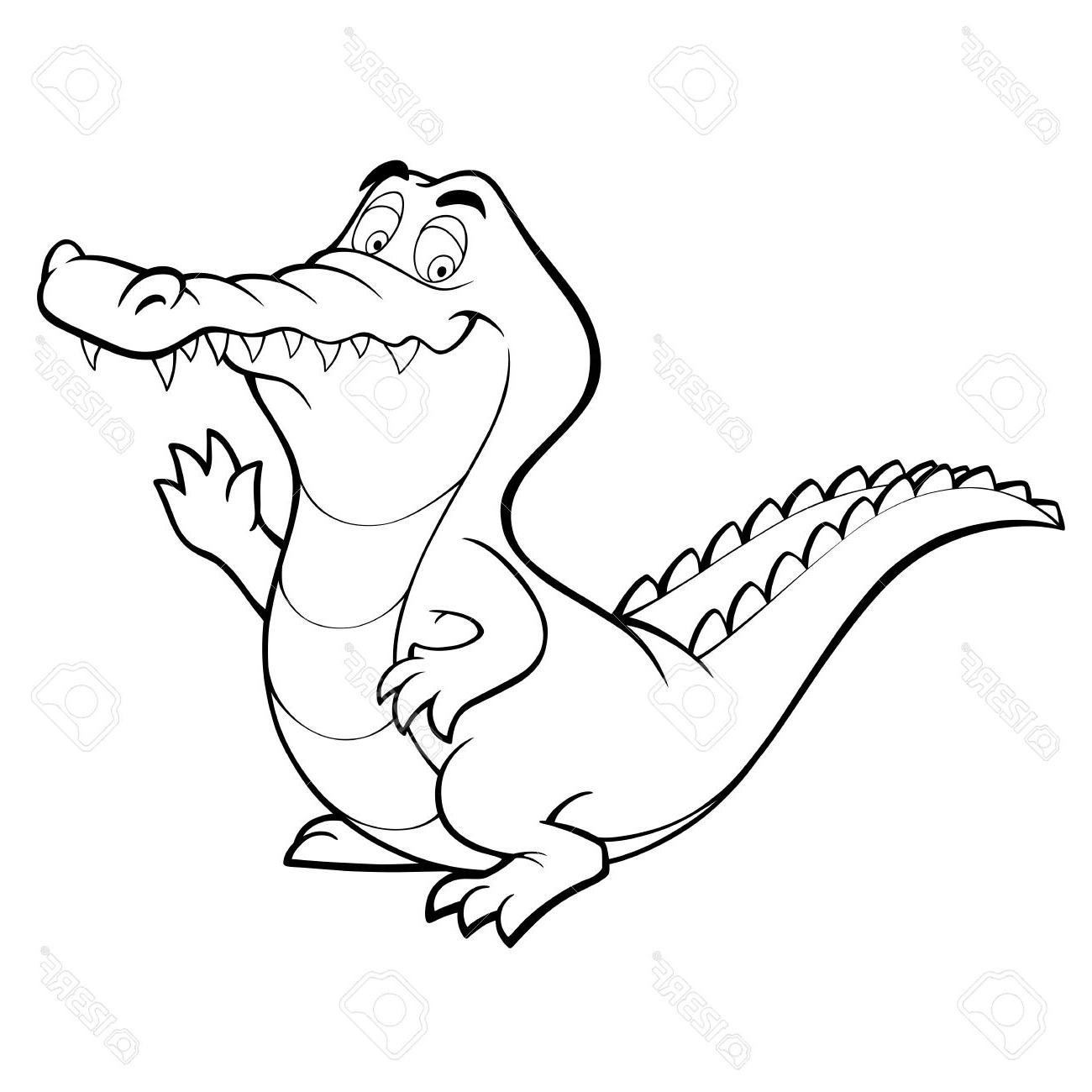 1300x1300 Crocodile Cartoon Drawing