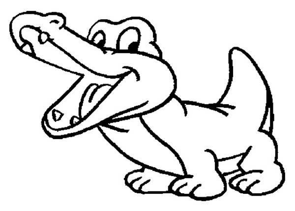 600x429 Drawn Alligator Baby Crocodile