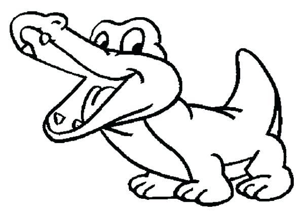 600x429 Drawn Crocodile Outline 3296818