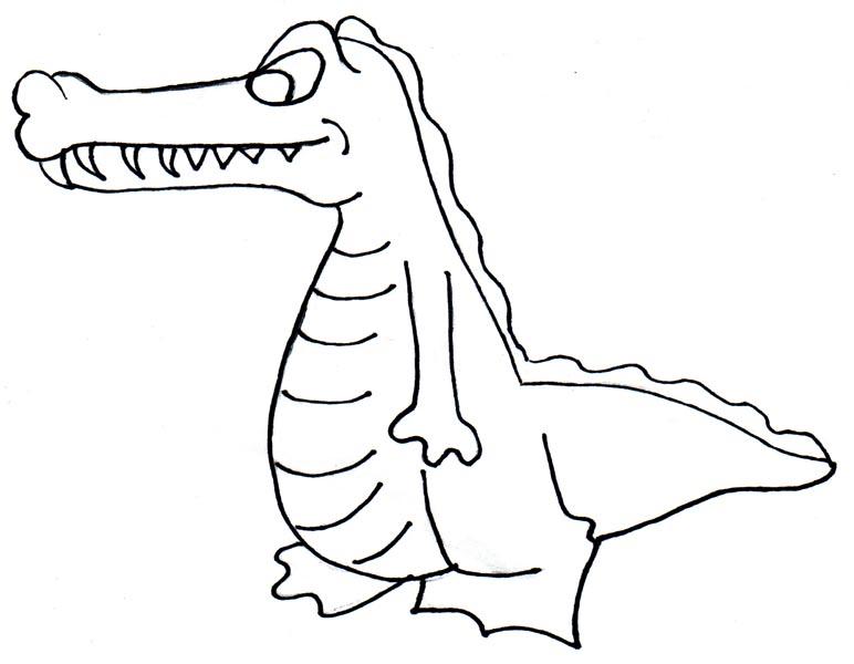 772x600 Alligator Clipart Outline