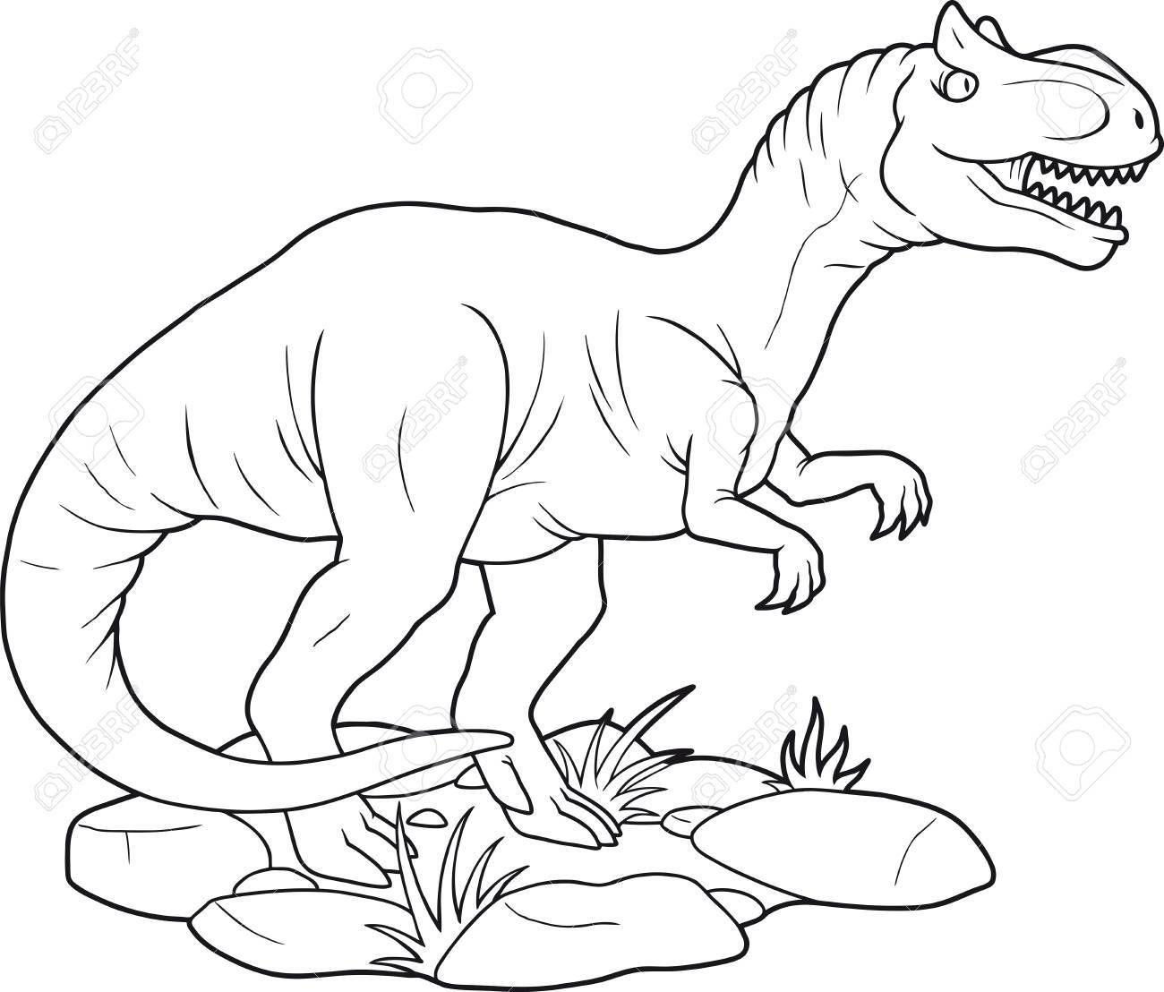 Allosaurus Drawing At Getdrawings Com Free For Personal Use