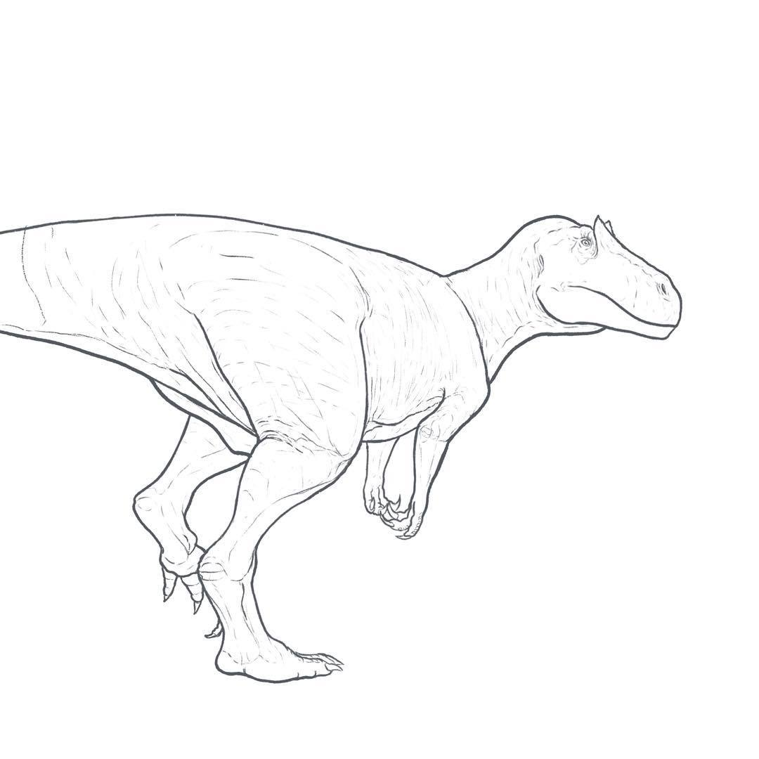 allosaurus coloring pages - photo#32