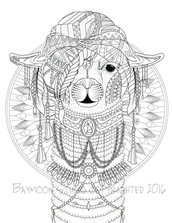 570x738 Llama Red Pajama Coloring Pages Best Spit Ideas On Alpaca Cute