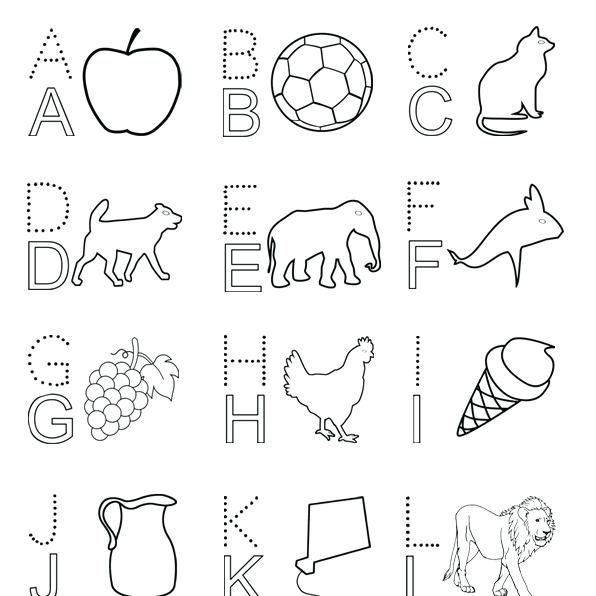 596x596 Coloring Book Alphabet Letters Coloring Pages