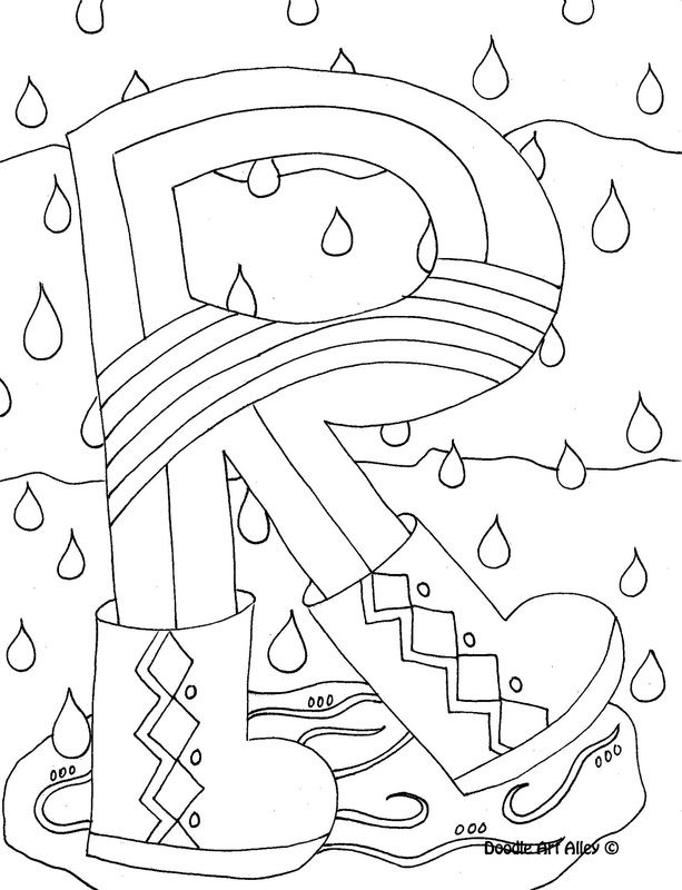 613x800 Alphabet Coloring Page From DoodleArt Alley Lots Of Fun