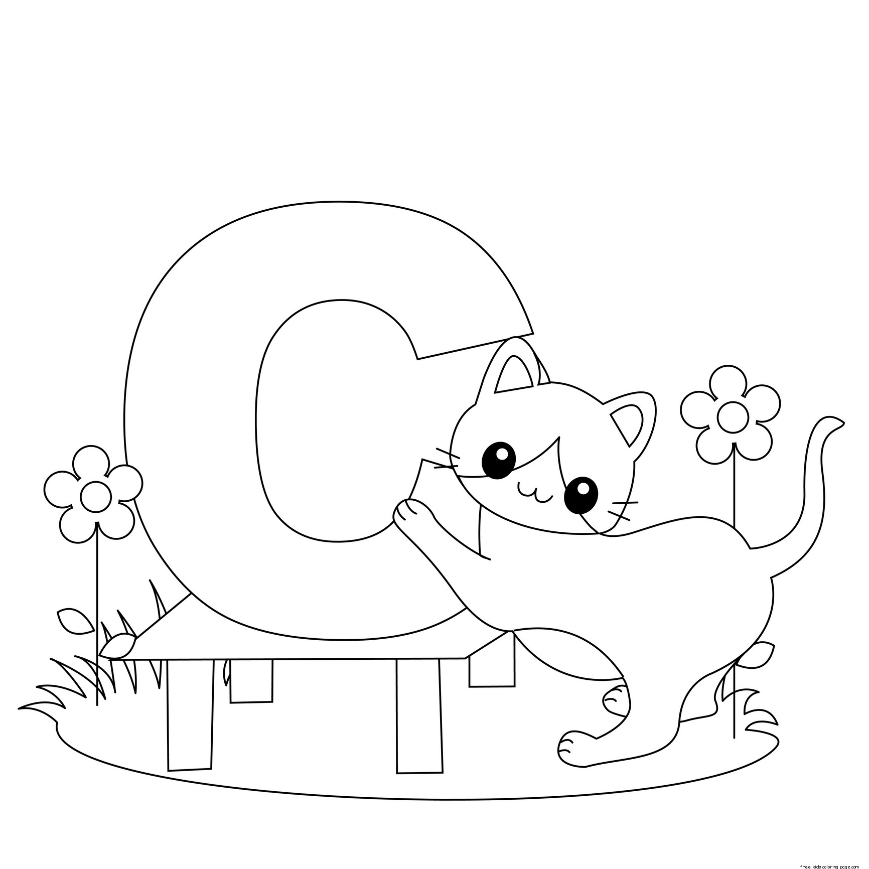 1732x1732 Animal Alphabet Coloring Book Printable