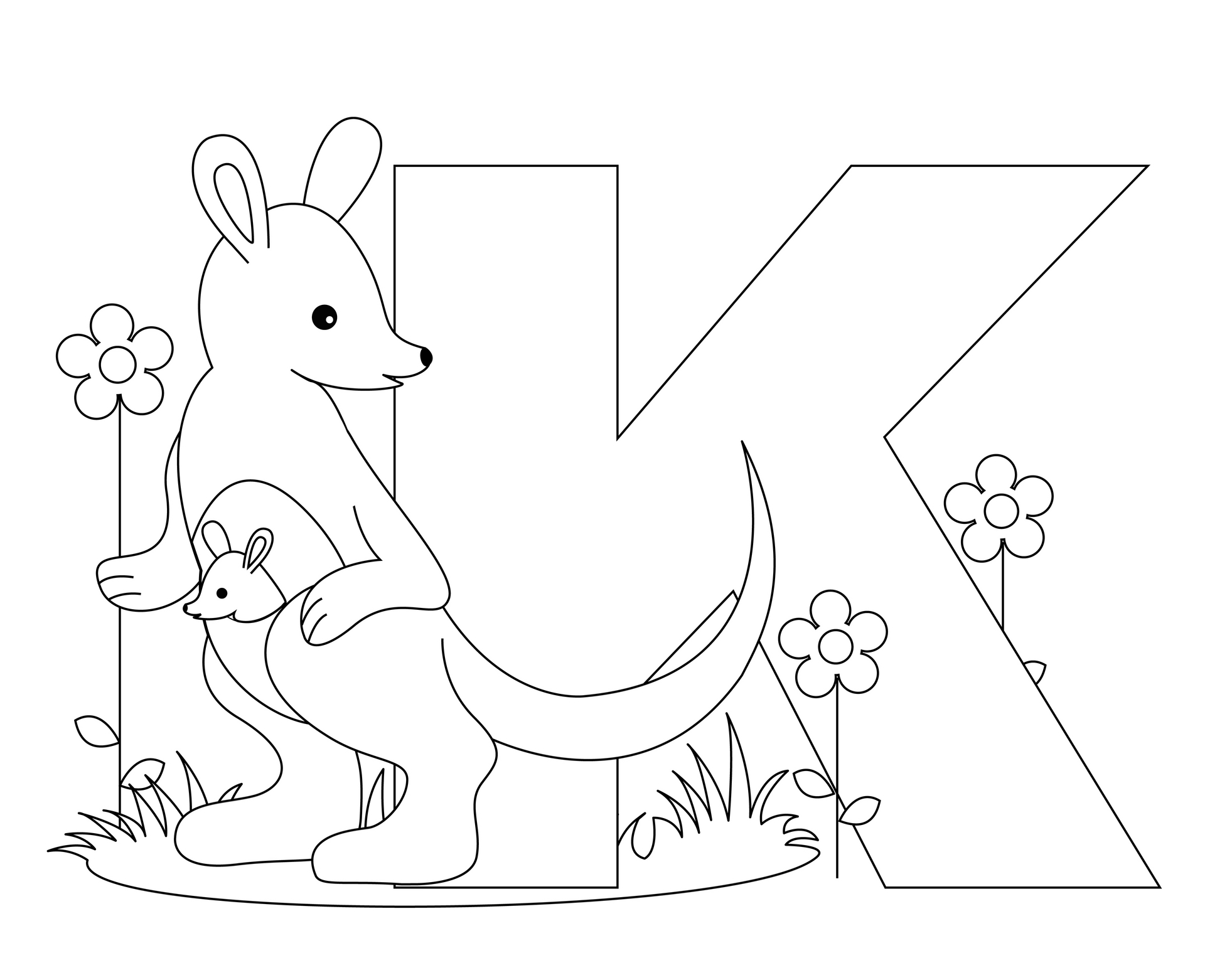 1963x1527 Free Kindergarten Alphabet Worksheets Animal Letter K