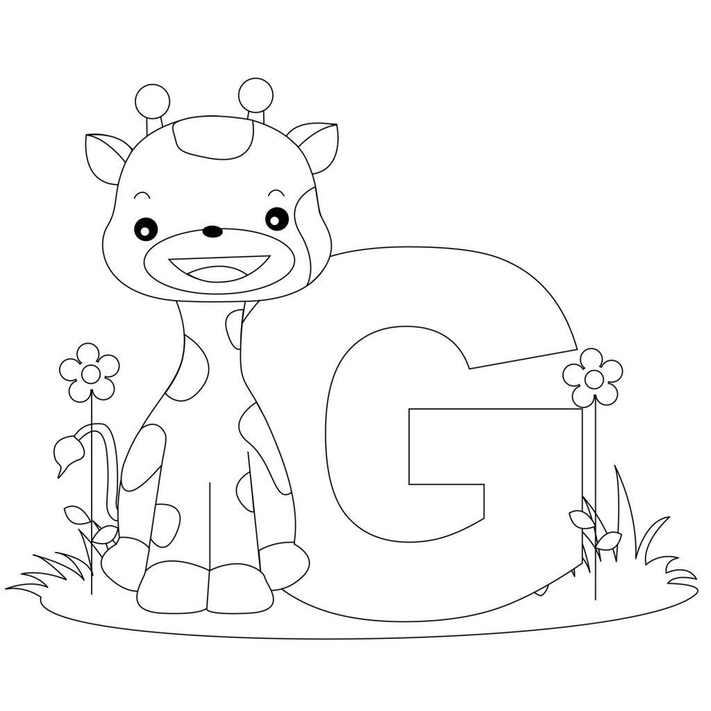 1024x1024 Alphabet Coloring Pages Letter G Coloring Kids