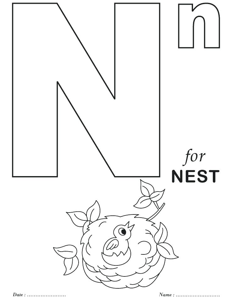 738x954 Alphabet Coloring Pages Free