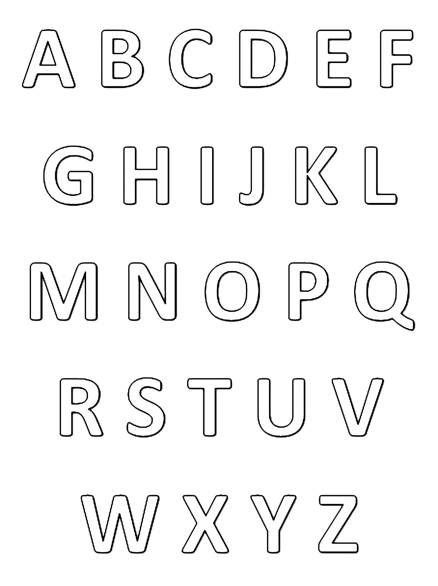 1400x1872 Alphabet Coloring Pages For Kids To Print Amp Color