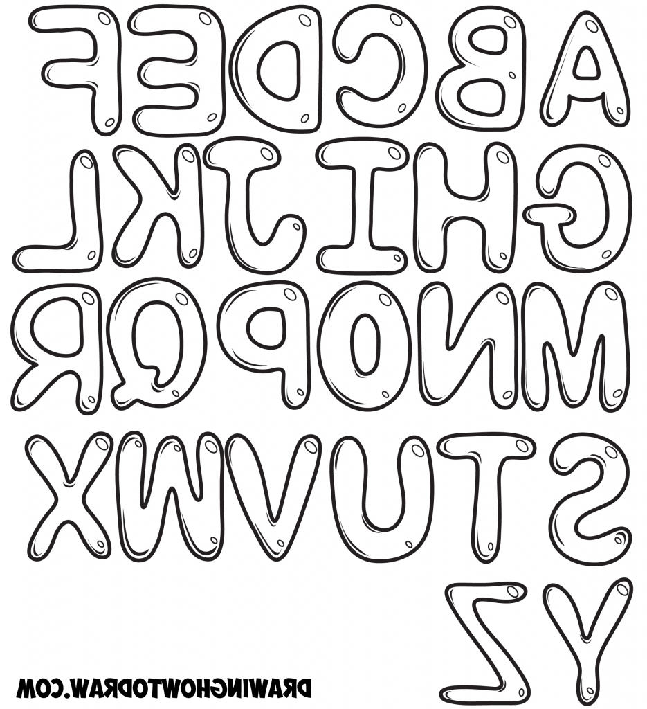 935x1024 3D Letters Drawing A Z Graffiti How To Draw