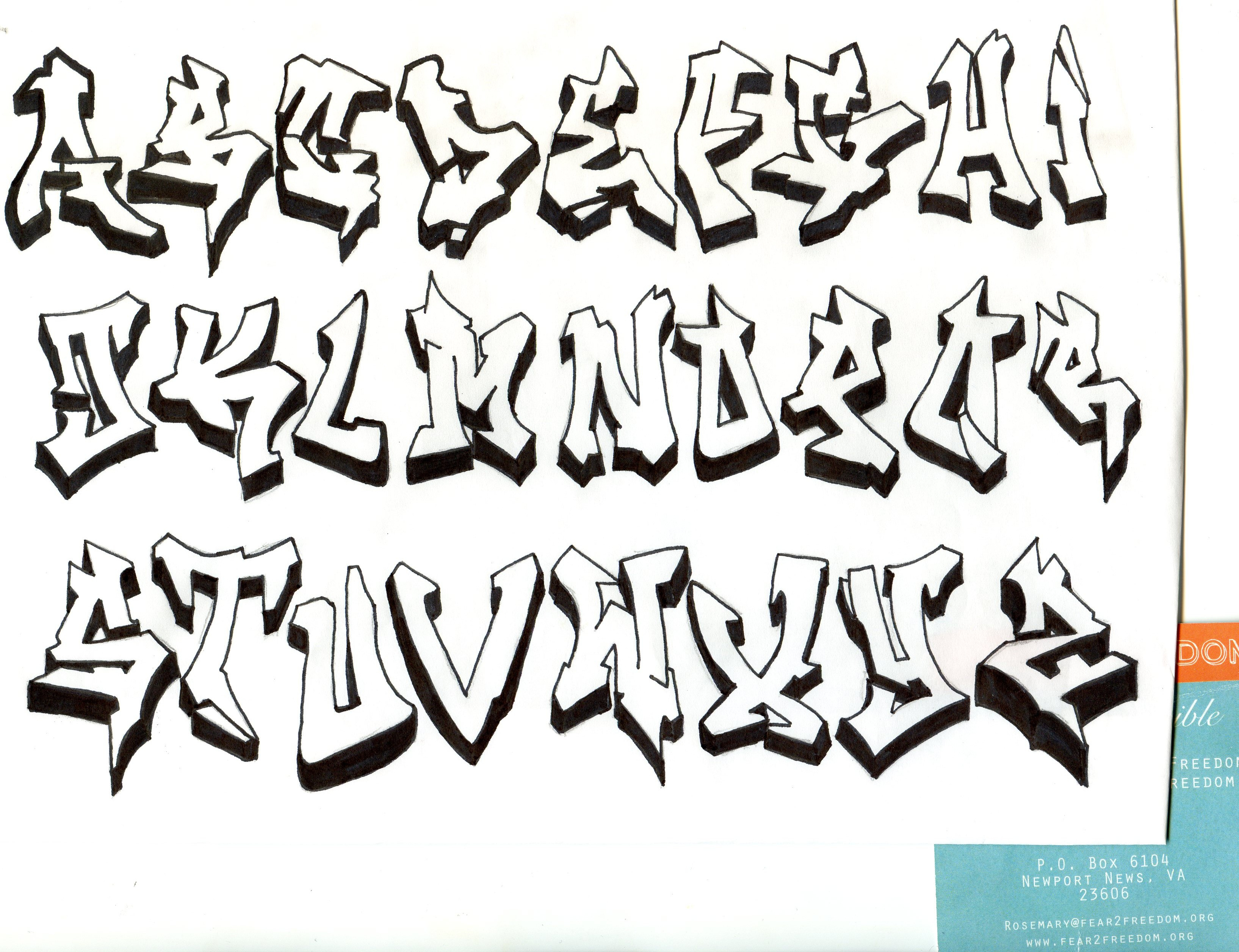 Alphabet letters drawing at getdrawings free for personal use 3269x2514 alphabet letters in graffiti 3d thecheapjerseys Images
