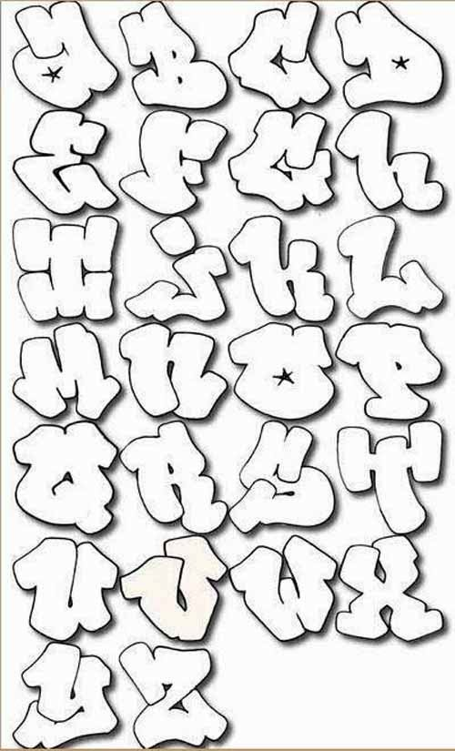 500x825 Graffiti Es Letters A Z To Draw