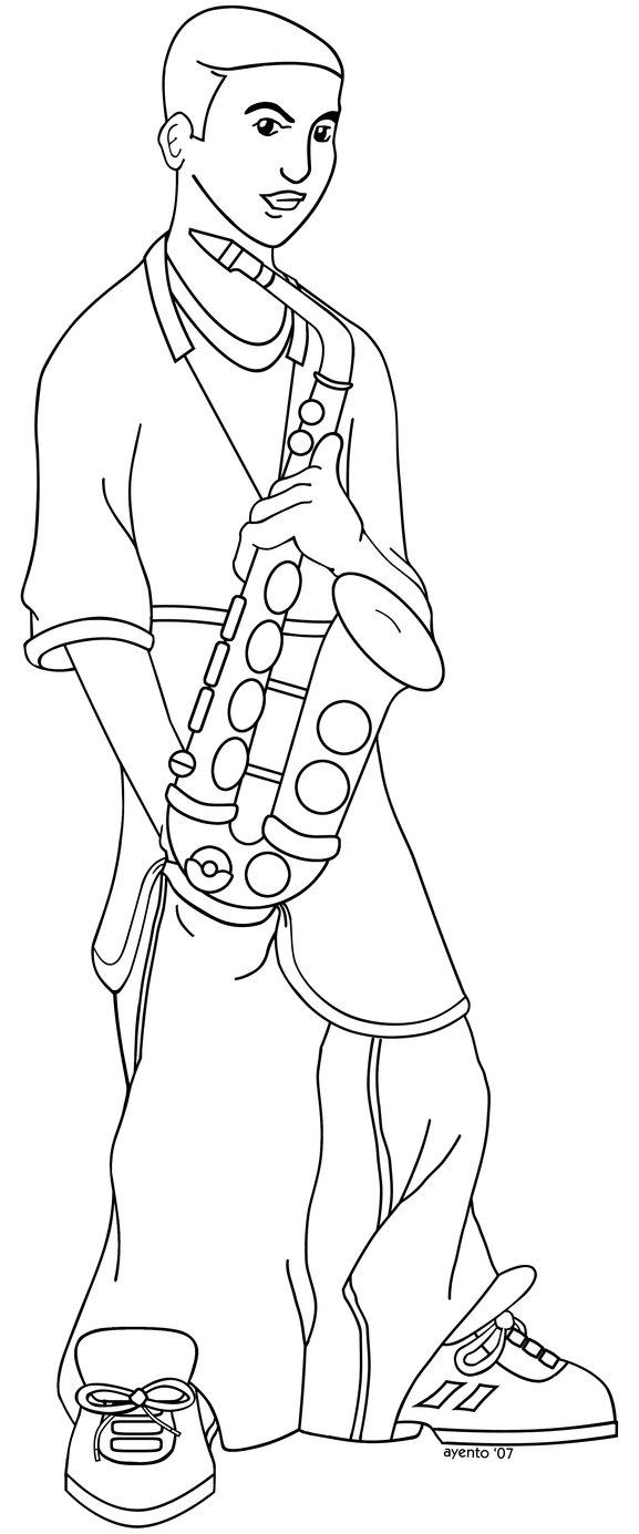 Alto Sax Drawing