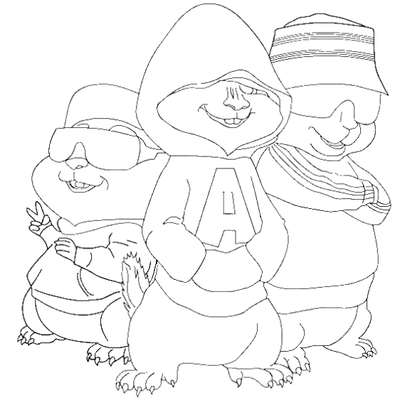 Alvin And The Chipmunks Drawing