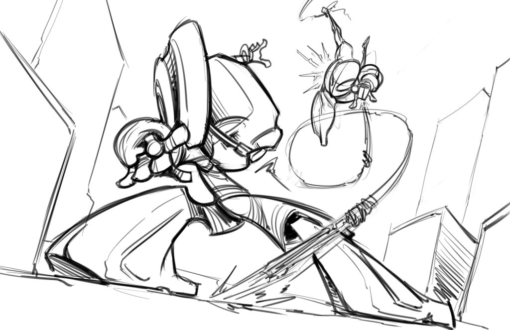 1024x663 The Amazing Spider Man Vs. The Crimson Fly Sketch By Skipperwing