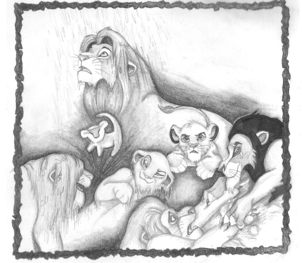 1033x900 Tribute To The Lion King By Zepheenia