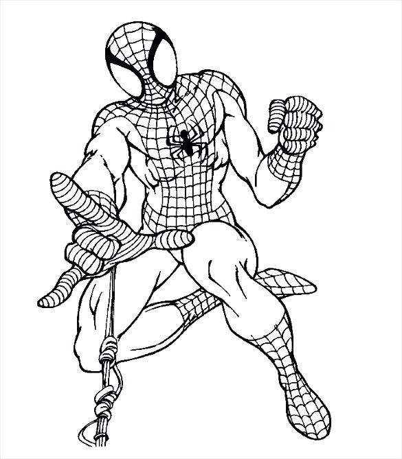 585x669 coloring pages spider man coloring pages of the amazing spider man