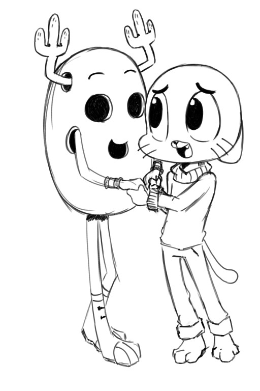 512x768 The Amazing World Of Gumball Coloring Pages And Penny