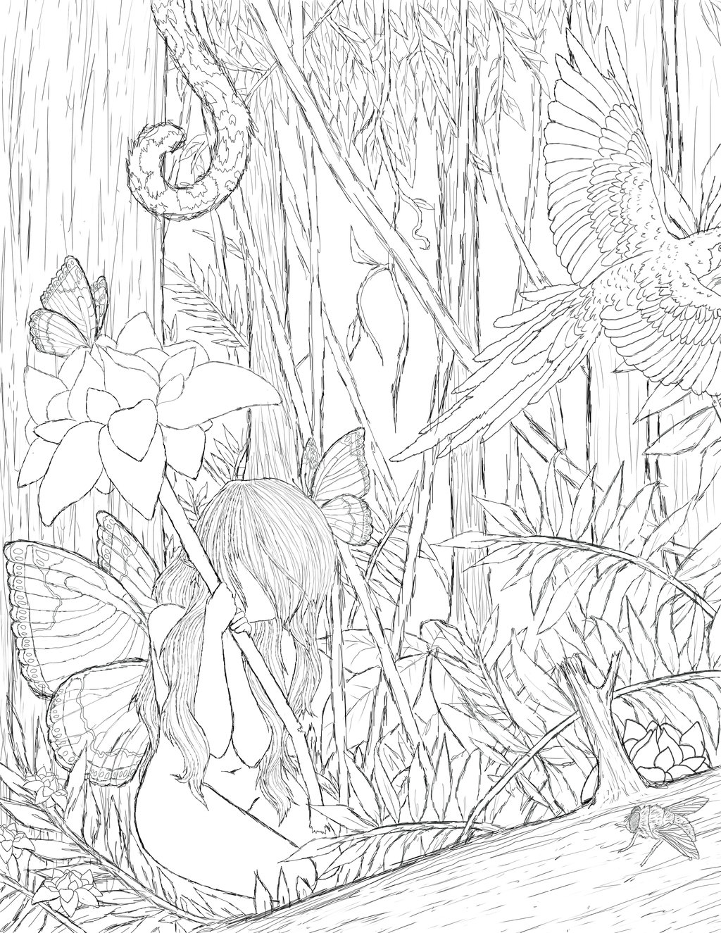 Amazon Rainforest Drawing at GetDrawings.com | Free for personal use ...