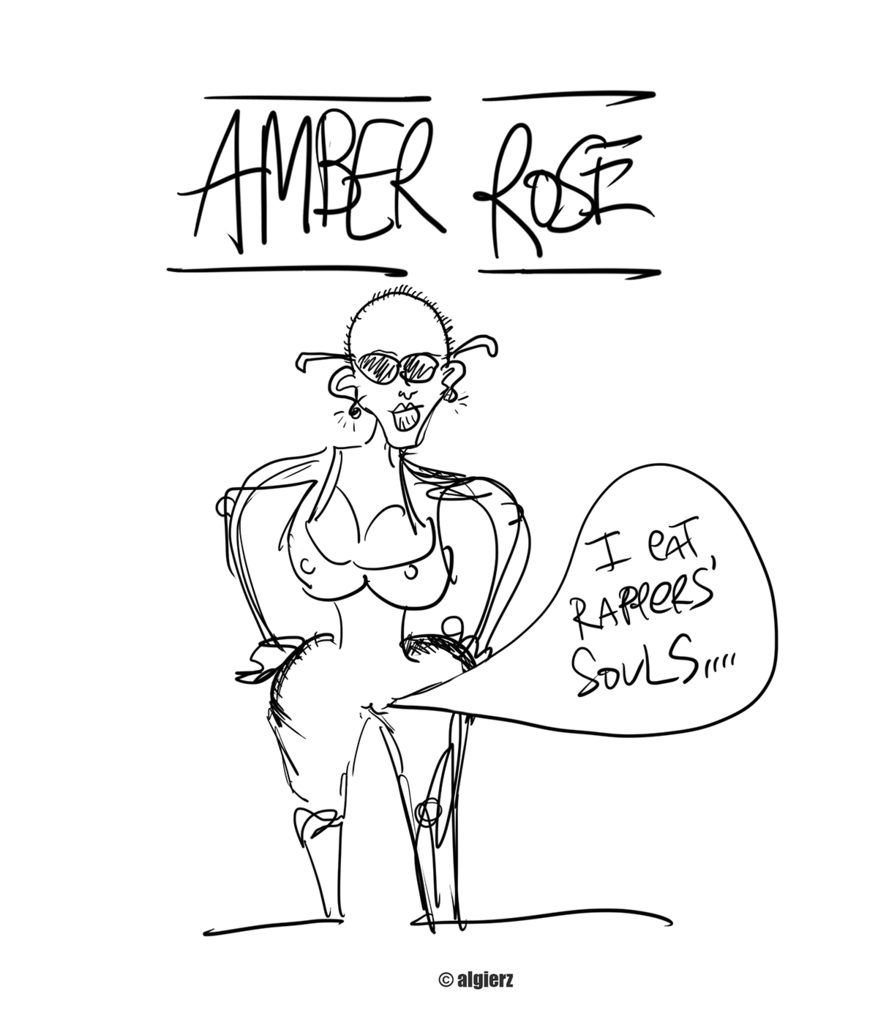 878x1024 I Eat Rappers' Souls Amber Rose Drawing