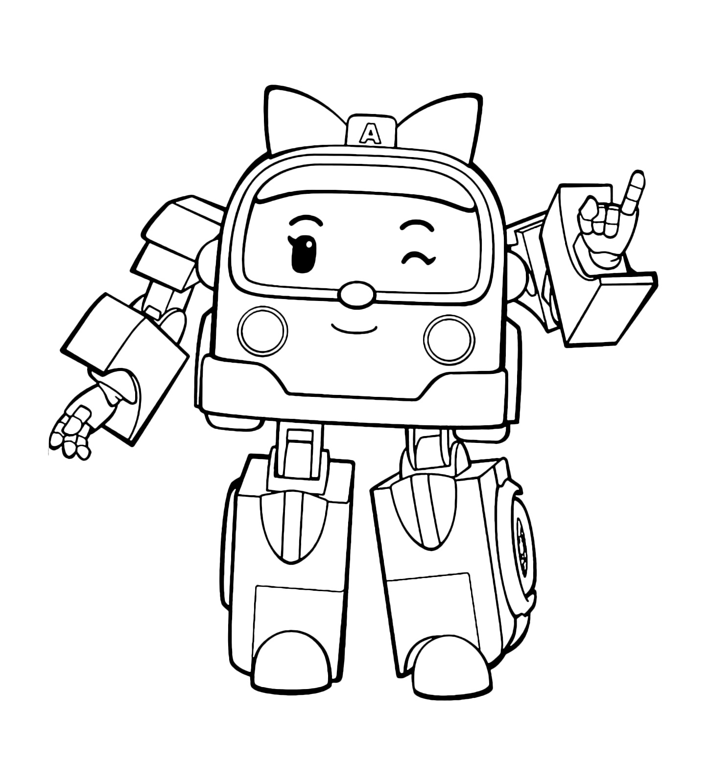 1448x1600 Robocar Poli Amber Coloring Pages For Kids
