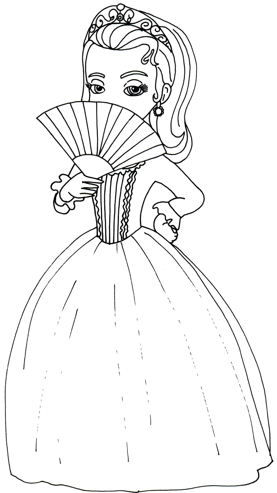 900x1600 Sofia The First Coloring Pages Amber Sofia Amber