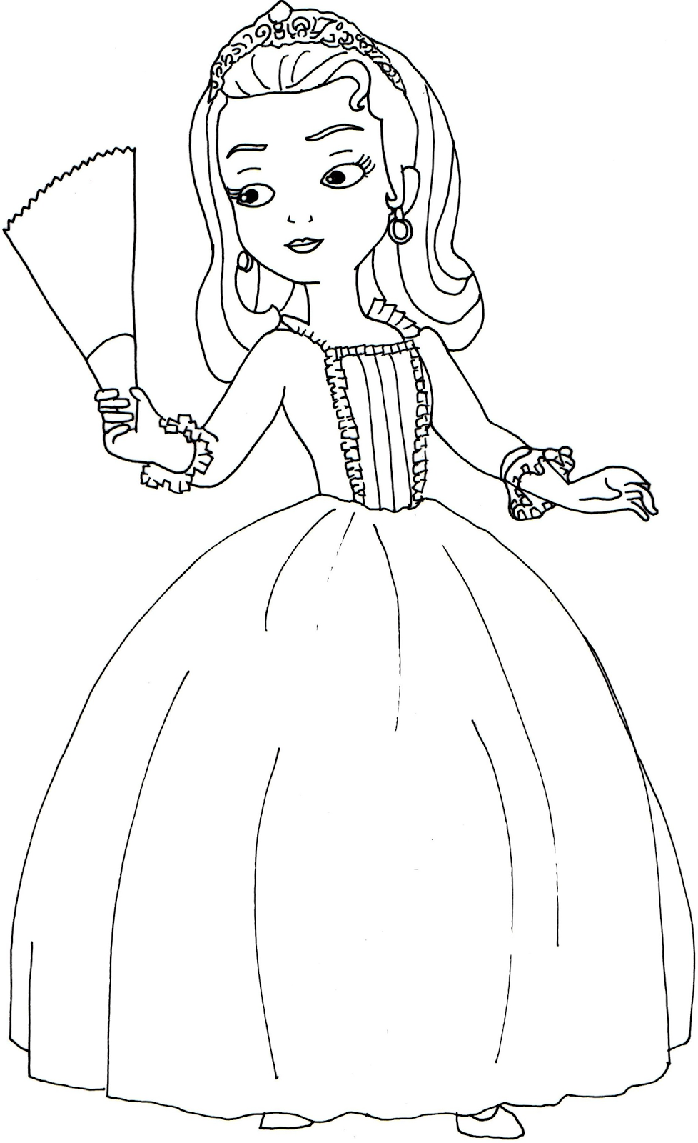 978x1600 Sofia The First Coloring Pages Princess Amber