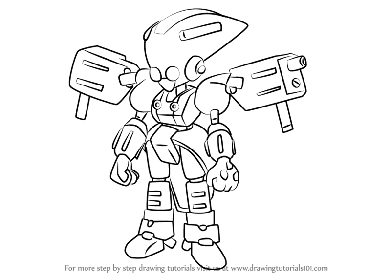 800x567 Learn How To Draw Ambiguous 2 From Medabots (Medabots) Step By