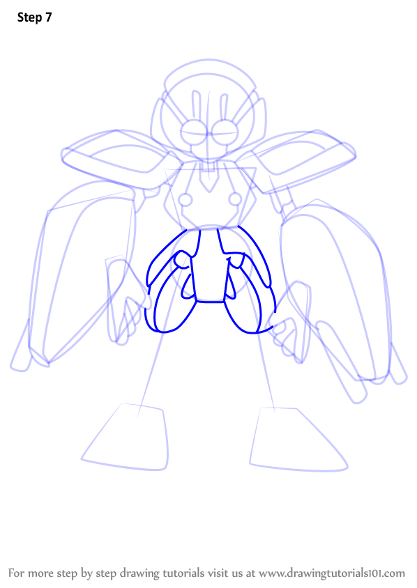 598x844 Learn How To Draw Ambiguous From Medabots (Medabots) Step By Step