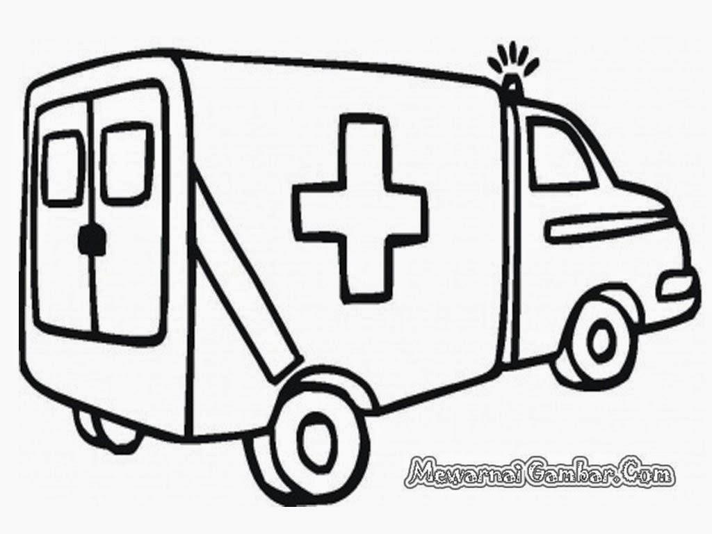 X Mewarnai Gambar Mobil Ambulance Buku Mewarnai Gambar Gratis
