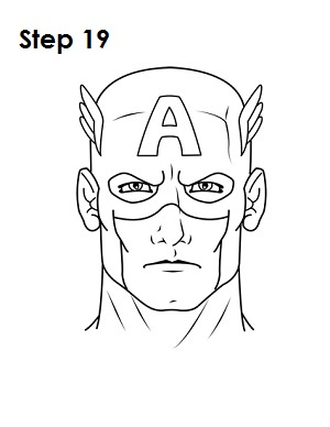 300x388 Draw Captain America Step 19 Hero Symbols Capt America