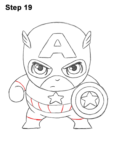 392x507 How To Draw Captain America (Mini)