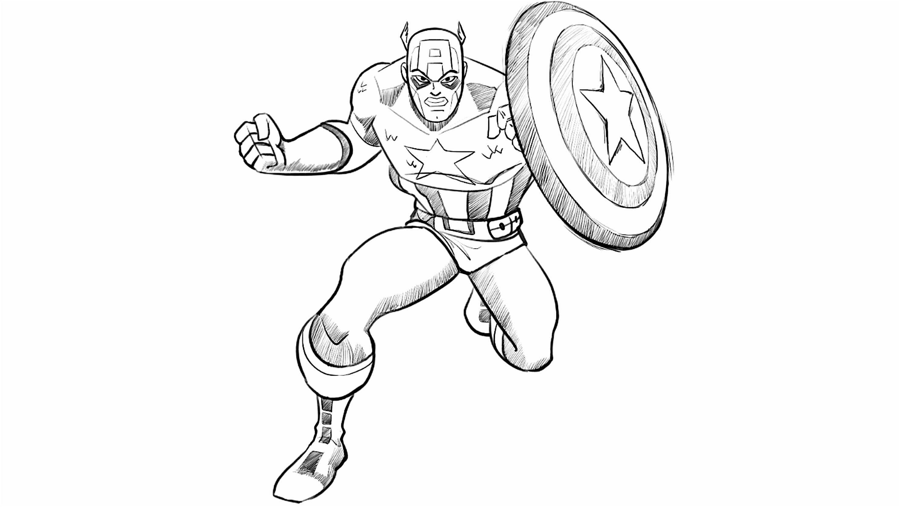 2964x1672 How To Draw Captain America