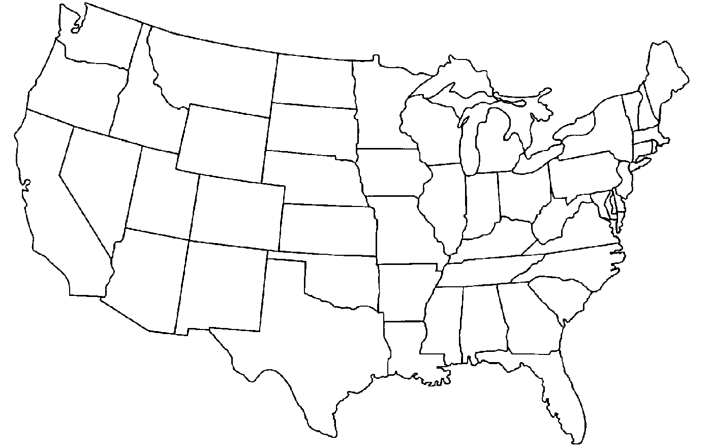 1395x881 How To Draw A Map Of The Us 554455
