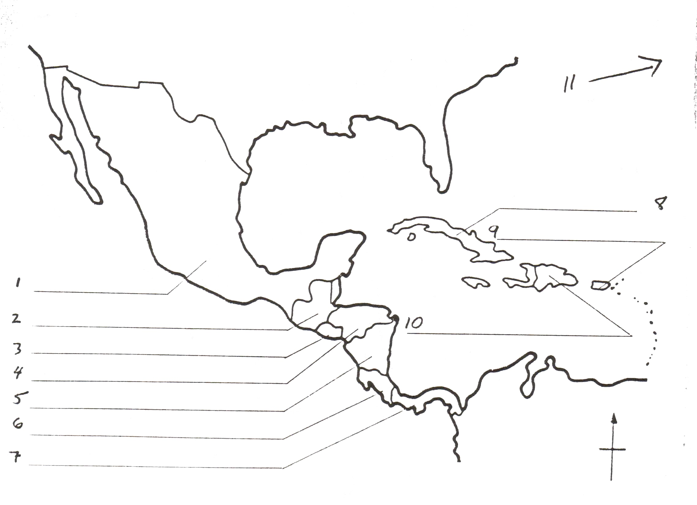 2276x1650 Map Of Central America Blank Worksheet At Outline Free Creatop Me