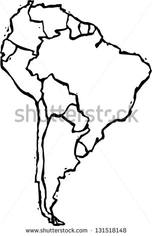 303x470 Map Of South America Black And White